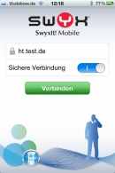 SwyxIT Mobile - Startbildschirm