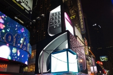 BlackBerry Werbung am Times Square New Years Eve 2012